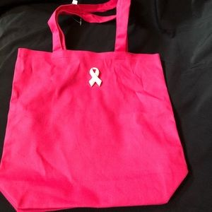 Breast cancer awareness Bags - Breast cancer awareness canvas tote gift bag
